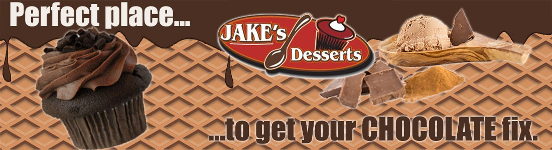 Chocolate at Jake's Desserts - Gourmet Desserts, Cupcakes, Cookies, Ice Cream